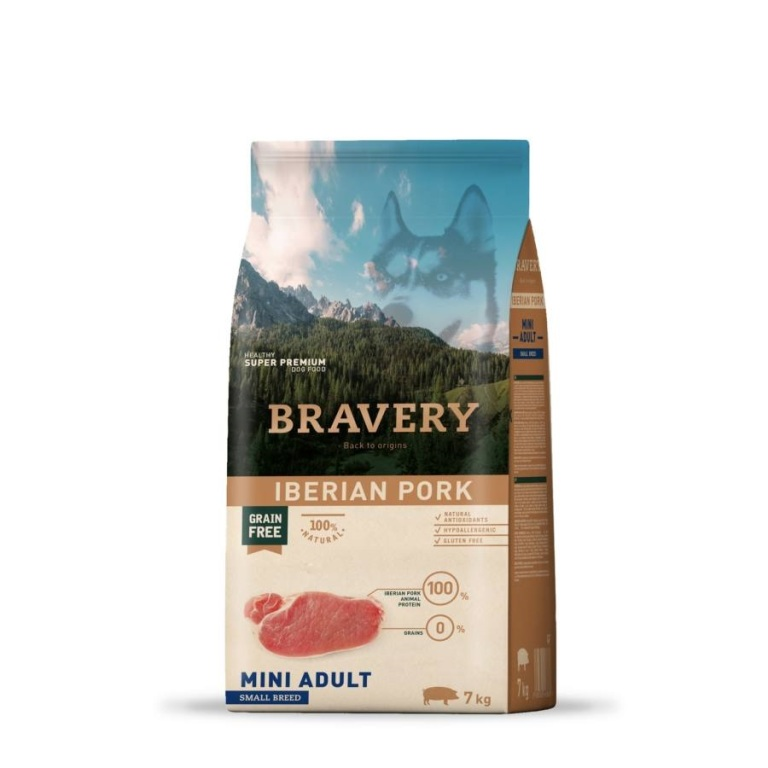 Bravery Grain Free Adult Mini Iberian Pork 7 kg