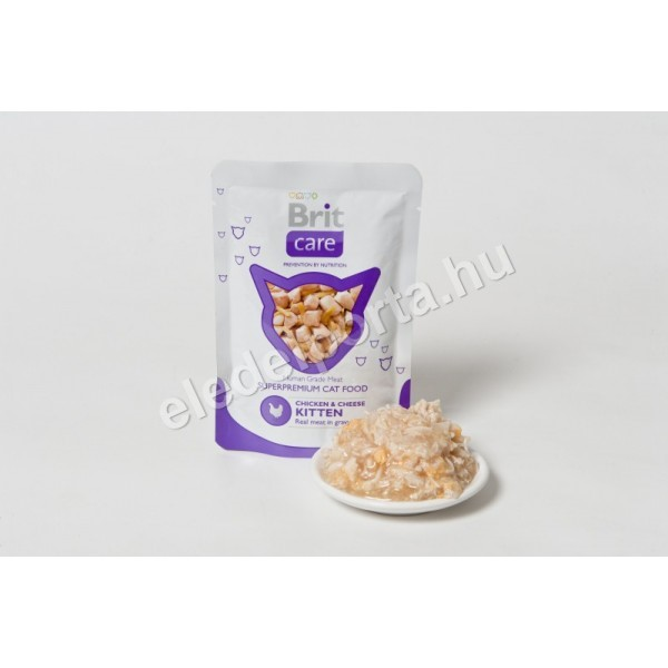 Brit Care Cat Pouches Chicken & Cheese Kitten 80 g